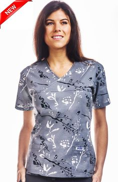 dc8e067f16b 523T : Zen Stem - Women's 100% Cotton Crossover Scrub Top Mobb, Medical  Assistant