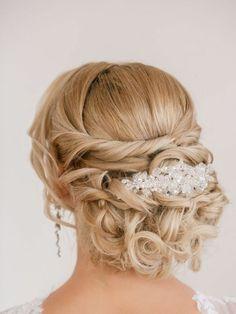 Brautjungfern Frisuren hochgesteckte Haare herrliche Lockenfrisur