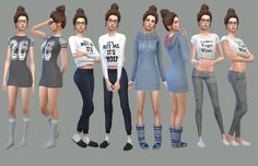 Sims 4 Look Books And CC Finds — Comfy Clothes Dress ...