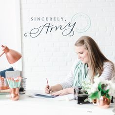 New brand and website for Sincerely Amy Designs - Elle & Company