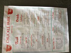 Chuckle Park Menu Pork Roll, White Sangria, Cafe Food, Fennel, Pulled Pork, Pear, Cabbage, Vegetables, Pull Pork