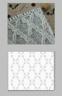 Knitting Paterns, Cable Knitting, Knitting Charts, Knitting Designs, Knitting Stitches, Knit Patterns, Knitting Projects, Stitch Patterns, Pinterest Diy Crafts