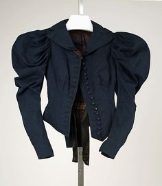 Navy wool jacket, by Lord & Taylor, American, 1893-94.