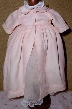 "ORIGINAL 1930s Effanbee 9"" DY-DEE WEE Christening Dress & Silk Crepe Robe"