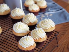 Almond Cupcakes w/ Amaretto Buttercream