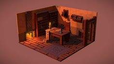 Made in MagicaVoxel, baked in Blender3D<br>See renders here