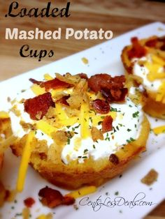 Loaded Mashed Potato Cups recipe - CentsLess Deals