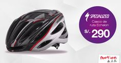 ¡Si te gusta el ciclismo de ruta el casco #Specialized #Echelon es para ti! Con una apariencia elegante y veloz, mayor ventilación, diseño ergonómico y adhesivos reflectantes para mayor visibilidad nocturna, este casco es el ideal. ¡Y lo tenemos en oferta a S/. 290! Ven hoy a Motion por él.