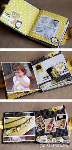 Ciao a tutti... in questo post voglio mostrarvi il minialbum realizzato con le foto scattate durante il compleanno della nostra piccola El...