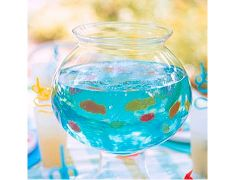 fish bowl gelatin cute for a party with kids