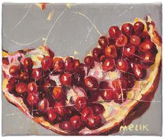 """Melik Agamalov, 'Pomegranate', 2013, acrylic on canvas. Part of the collection 'Azerbaijan: The colors of wind and fire' in """"Imago Mundi"""". I..."""