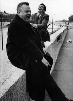 ORSON WELLES and ANTHONY PERKINS/Paris