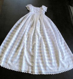 Stunning Hand Embroidered Vintage English Christening Gown...for the sweetest baby girl in all the world.