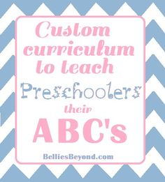 ABC curriculum to teach preschoolers at home!