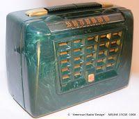 *American*Radio*Design* - Greg Mercurio - Deco-Mid Century, Retro Styled Vintage Tube Radios   : AIRLINE Radio 15GES 1068 (1951 ?)