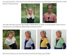 Lotus Bolero: Crochet Lace in 10 Sizes by Doris Chan