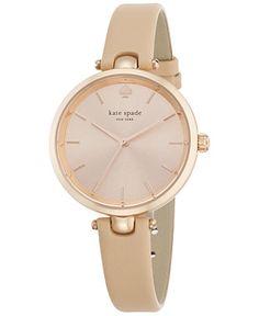 kate spade new york Women's Holland Vachetta Leather Strap Watch 34mm 1YRU0812 - Women's Watches - Jewelry & Watches - Macy's