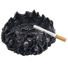 Decorative Skulls and Crossbones in Flames Ashtray for Spooky Skeleton Halloween Decorations or Medieval Art Figurines & Gothic Home Decor As Scary Fantasy Gifts Generic  - http://www.amazon.com/gp/product/B00TD7YJQW/ref=as_li_qf_sp_asin_il_tl?ie=UTF8&camp=1789&creative=9325&creativeASIN=B00TD7YJQW&linkCode=as2&tag=lunabellaswor-20&linkId=YOR3SAI2ZHQT7Y6P