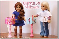 American Girl Craft ~ Cute, Easy and Inexpenisve Mailboxes for your doll! #americangirl #craft My girls have now outgrown Americsn Girl dolls (:() but this is so cute!