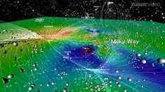 The astronomers compared the movement of the galaxies with that of water among hills and valleys to chart the supercluster