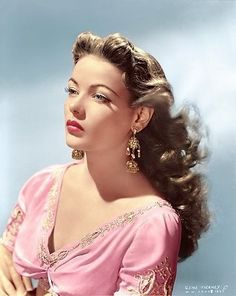 Gene Tierney. This is how I see of my beautiful self. Wow.