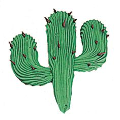 The cactus is a must-have for western themed cakes, and it couldn?t be easier. Elongated shells come together, topped by pull-out needles. We used tip 199 for great texture.