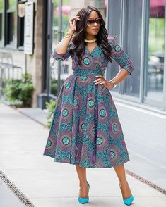 Super Attractive Ankara Styles - Ankara collections brings the latest high street fashion online African Dresses For Women, African Print Dresses, African Fashion Dresses, African Attire, African Wear, African Women, African Prints, African Outfits, Ghanaian Fashion