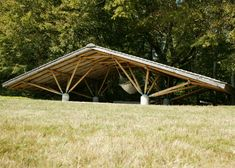 """groundbreaking bamboo architect Simón Vélez, who describes the material as """"vegetable steel"""", has built a trio of experimental structures. Giant Bamboo, Bamboo Art, Timber Architecture, Architecture Details, Roof Dome, Bamboo Building, Timber Roof, Bamboo Structure, Bamboo Construction"""