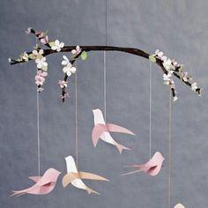 Kolorowe Laurki: Wiosenne ptaszki - plastyka w przedszkolu