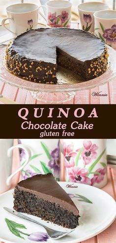 Moist and rich Quinoa Chocolate Cake Gluten-free, easy-to-make