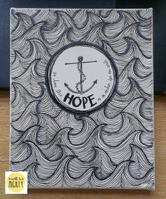Hope as an Anchor  8x10 Canvas Original by greensJOY on Etsy, $35.00