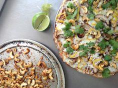 Kung Pao Chicken Pizza #grilledpizza #nomnom #pulehupizza #pdxeats #foodcartsrock