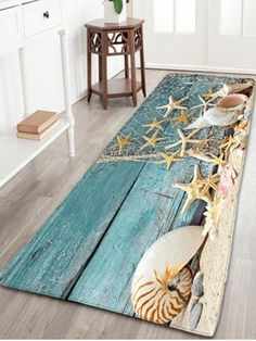 Shop for Blue W16 Inch * L47 Inch Nautical Starfish Print Flannel Skidproof Bathroom Rug online at $17.98 and discover fashion at RoseGal.com Mobile