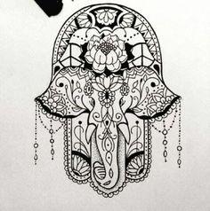 Tattoo Elephant, Buddha, Hamsa Hand Ideas - Tattoo Elephant, Buddha, Hamsa Hand Ideas You are in the right place about Tattoo Elepha - Hamsa Hand Tattoo, Hand Tattoos, Hamsa Tattoo Design, Elephant Tattoo Design, Elephant Tattoos, New Tattoos, Body Art Tattoos, Sleeve Tattoos, Tatoos