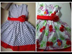 PARTE 2 - COSTURA DO VESTIDO INFANTIL | Juliana Dantas (child dress) - YouTube