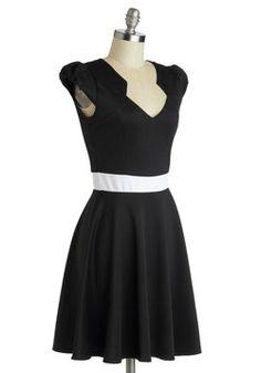 Vivacious and Vibrant Dress in Noir, #ModCloth