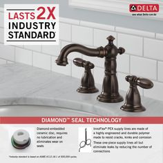 35955-RB-DST - Two Handle Widespread Lavatory Faucet