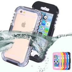 Ip-impermeabile heavy duty hybrid nuoto di immersione custodia per apple iphone 6 6 s plus 4.7 & 5.5 5 s se acqua/dirt/shock proof di telefono borsa