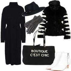 052ff6ec0f95 100% lana per il vestito al ginocchio nero