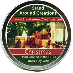 Premium All Natural Soy Wax Aromatherapy Candle - 6 oz Tin Christmas: Christmas combines orange spice notes from the kitchen, fir and pine notes from the Christmas tree, and an earthy smokiness from the fireplace. This fragrance is infused with natura