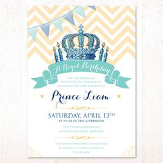 Babys St Birthday Party Invitations Templates Charming First - Royal birthday invitation template