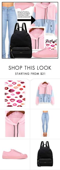 """ROMWE"" by amilaaaas ❤ liked on Polyvore featuring WALL, Vibrant, Novesta and Radley"