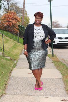 Sequin camo pencil skirt by Lane Bryant | Lane Bryant | Plus Size ...
