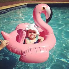Lovely Inflatable Toddler Swan Swimming Pool Ring w/Seat Pink or White