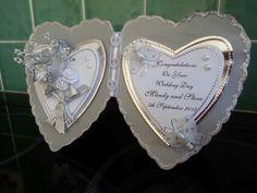 Open heart wedding card.