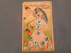 ButtonArtMuseum.com -Vintage-Peter-Pan-Buttons-on-Lithographed-Card