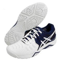 ASICS Gel Resolution 7 Novak Djokovic Men's Tennis Shoes Navy Racquet  E805N-5001