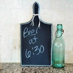 Obviously there is no beer in my kitchen but I like the idea of the chalkboard.