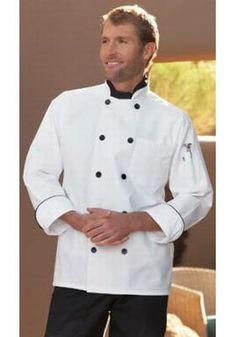 The Lowest Prices online on Madrid Chef Coat and shop from a huge variety of Chef Coats. Prices as low as . Security Uniforms, Uncommon Threads, Restaurant Uniforms, Maid Uniform, Work Uniforms, Medical Scrubs, Work Shirts, Collar And Cuff, Black Button
