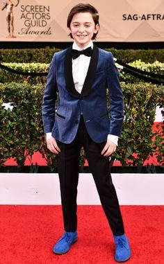 Noah Schnapp from 2017 SAG Awards: Red Carpet Arrivals